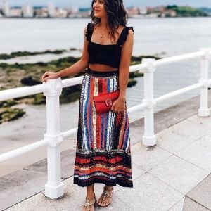 Zara limited edition multicolored Sequin skirt